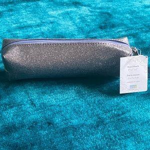 MYX lavender glitter pencil pouch